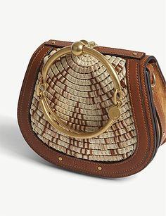 CHLOE Nile Raffia cross-body bag