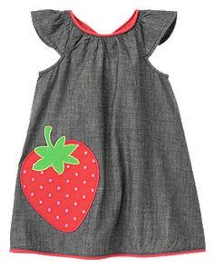 Gymboree | Strawberry Chambray Dress | adorable