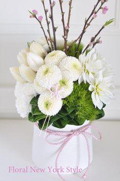 bianco e Arrangement Beautiful Flower Arrangements, Elegant Flowers, My Flower, Fresh Flowers, Silk Flowers, Flower Art, Floral Arrangements, Beautiful Flowers, Deco Floral