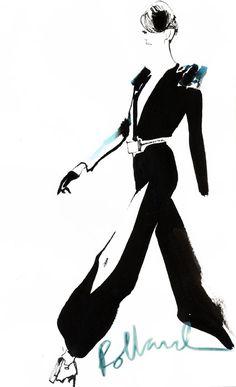 fashion illustration: David Downton