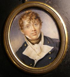 Naval Portrait Miniature. Midshipman. By William Wood. 1804.