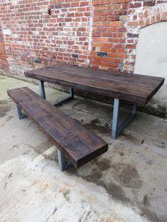 Reciclado Industrial Chic 10-12 plazas madera por RccFurniture                                                                                                                                                                                 Más