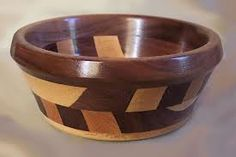 Two Tone Wooden Bowl