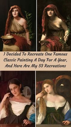 I really love art, admiring beauty and talent. I want to actualize great painting from different cultural traditions to show people that it is much closer than it seems. #Recreate #Famous #ClassicPainting