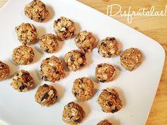 Entre tus comidas puedes comer este snack saludable de bolitas de energía.