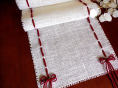 Burlap table runner Christmas table runner by DaniellesCorner, $30.00