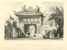 017- Primera puerta de entrada la templo de Confucio en Ch… | Flickr Vintage Drawing, Art Google, Barcelona Cathedral, Taj Mahal, Asia, Culture, Drawings, Photography, Painting