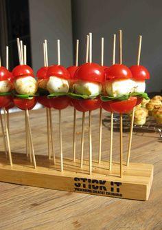 Excellent-eten.nl: Caprese op een stokje
