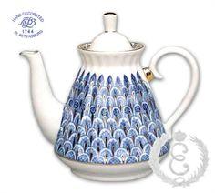 Russian Lomonosov Teapot - Forget Me Not  www.ekaterinas.com
