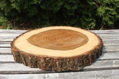 Large Log Elm Wood Slab 16 In Rustic Cake by TheShindiggityShoppe