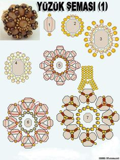 Graph Flower Pendant with larger beads;