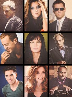 NCIS cast...I like that they showed Kate and Ziva but where's Jenny/Director Shepard? Ooh and love ziva and abby's make up!!
