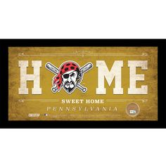 Pittsburgh Pirates 10 x 20 Home Sweet Home Sign-Game Used Dirt - PNC Park: Celebrate your allegiance to your team with this… #OnlineMarket