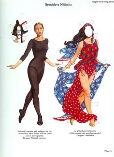 MAGIC-COLORING | Diaghilev's Ballets Russes Paper Dolls