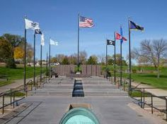 pierre south dakota - war memorial by capitol lake. in the winter we go here to feed the geese bread crumbs. Watch your step though!