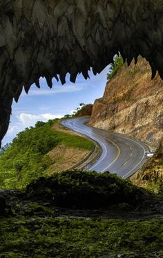 Amazing Road to Las Terrenas beach, Samana peninsula Dominican Republic Samana, Santa Lucia, Beautiful Roads, Beautiful Places, Belize, Places To Travel, Places To See, Trinidad E Tobago, Costa Rica