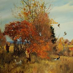 The Art of Brett James Smith Wildlife Paintings, Nature Paintings, Wildlife Art, Landscape Paintings, Hunting Art, Hunting Dogs, Grouse Hunting, Hunting Stuff, Pheasant Hunting
