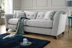 Discover exclusively designed, luxurious fabric & leather sofas, corners, chairs and footstools. Feel at home on a sofa you love with Sofology. Blue Living Room Decor, Living Room Furniture Arrangement, Living Dining Room, Homedecor Living Room, Lounge Interiors, Living Room Grey, Country Living Room, Yellow Living Room, Grey And Yellow Living Room