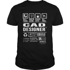 CAD DESIGNER T-Shirts, Hoodies. SHOPPING NOW ==► Funny Tee Shirts