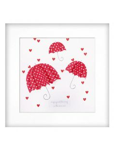 'love is in the air' Rosy Red Rainy Day Wall Feature.  Beautiful 3 dimensional design with tiny hearts representing rain drops.  Made in the UK  http://www.madecloser.co.uk/home-garden/homeware-and-furniture/rosy-red-wall-feature