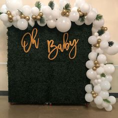 Deco Baby Shower, Baby Shower Backdrop, Gold Baby Showers, Baby Shower Balloons, Baby Boy Shower, Baby Shower Wall Decor, Bridal Shower, Baby Shower Decorations For Boys, Boy Baby Shower Themes