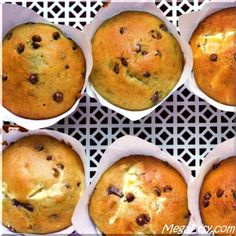 Cream Cheese filled Chocolate chip Yogurt Muffins, lovely texture, beautiful flavor, delicious filling.
