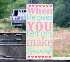 Pink Lemonade Party Hand Painted Vintage by AmberMooreDesigns, $39.99