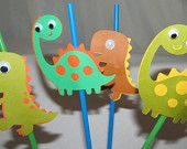 Dinosaur Party Drinking Straws-love dino theme