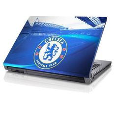 Chelsea F. - laptop skin- fits inch screens- anti-fade- waterproof bubble-free finish- anti-scratch- easy application- no residue when removed- in a display packet- official licensed productShipped from UK. Chelsea Football, Chelsea Fc, Uk Football, World Soccer Shop, Football Equipment, Skins Uk, 17 Inch Laptop, Computer Case, Soccer Cleats
