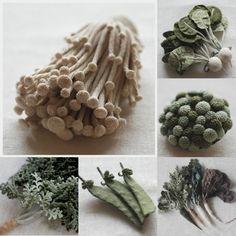 Crocheted baby vegetables -