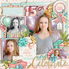 Used the following from the Sweet Shoppe: Template: Half Pack 218: Photo Focus 91 by Cindy Schneider Scrap Your Stories: Celebrate Collection by Studio Flergs and Kristin CB