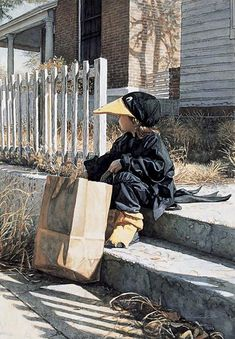 Little Black Crow ~ Steve Hanks. Steve Hanks is recognized as one of the best watercolor artists working today. The detail, color and realism of Steve Hanks' paintings are unheard of in this difficult medium. A softly worn patterned quilt, the play of light on the thin veil of surf on sand, or the delicate expression of a child - Steve Hanks captures these patterns of life better than anyone.