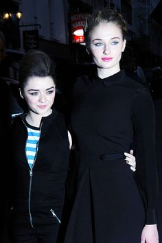 Sophie Turner And Maisie Williams.  They're pals!!  JUST pals.  BFFs.  It's cute and endearing really.