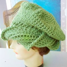 Sage Green Crochet Hat Womens Hat Trendy Womens Crochet Hat Crochet Beanie Hat Sage Green Hat Green Hat CAROLYN Beanie Hat for Women by strawberrycouture by #strawberrycouture on #Etsy