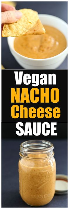 Vegan Nacho Cheese Sauce recipe. Quick, easy, and healthy dairy-free nacho cheese sauce or dip recipes. Makes a great healthy appetizer or snack