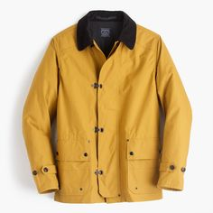 We sourced the waxed cotton for our new lightweight fireman's jacket from the 150-year-old Halley Stevensons mill in Dundee, Scotland—the town where herring fishermen first started treating sailcloth with fish oil in the 15th century to make it more durable and water-resistant. Inspired by traditional firemen's jackets, we incorporated authentic details like metal hook-and-dee clasps (they make the jacket easier to open with heavy-duty gloves on) and a corduroy collar. With just the r...