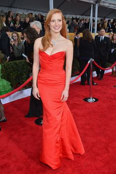 SAG Awards 2013: Best and Worst Dressed: BEST: Jessica Chastain in Alexander McQueen    Yay! Chastain redeemed herself after that Golden Globes disaster.