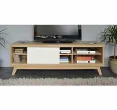 meuble tv enfilade on pinterest tvs totems and acacia. Black Bedroom Furniture Sets. Home Design Ideas