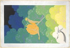 Window Display Design with Girl on a Swing Artist: Erté (Romain de Tirtoff) (French (born Russia), St. Petersburg 1892–1990 Paris) Date: 1931 Medium: Gouache and metallic paint Dimensions: 26 1/4 x 18 in. (66.7 x 45.7 cm) Classification: Drawings Credit Line: Purchase, The Martin Foundation Inc. Gift, 1967 Accession Number: 67.762.37 Rights and Reproduction: © 2015 Artists Rights Society (ARS) New York
