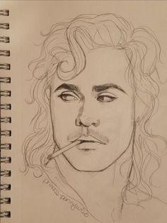 Pencil Art Drawings, Cool Art Drawings, Art Drawings Sketches, Easy Drawings, Sketch Art, Stranger Things Quote, Eleven Stranger Things, Arte Teen Wolf, Arte Sketchbook