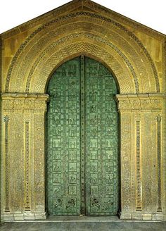 West doors of Monreale, with a much more sophisticated Adam & Eve to Resurrection cycle of Images