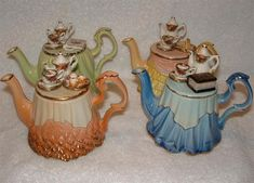 Royal Albert China - Collector Teapots - http://www.royalalbertpatterns.com/Collections/Collector%20Teapots.htm