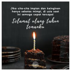 [id-id] - Birthday Quotes Birthday Wishes For Lover, Birthday Cards For Friends, Happy Birthday Quotes, Words Quotes, Me Quotes, Qoutes, Quran Quotes, Islamic Quotes, Quote Aesthetic