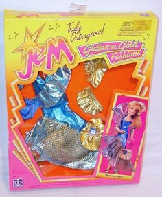 """Hasbro USA JEM & The Holograms GLITTER'N GOLD 13"""" Doll Figure Outfit #2 MIB`86!"""