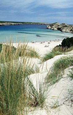 Playa de Son Parc, Menorca, Spain www. Places To Travel, Places To See, Island Holidays, Ibiza Formentera, The Beach, Balearic Islands, Spain And Portugal, Parcs, Spain Travel