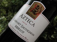 """According to The World Atlas of Wine Mexico has """"the oldest wine industry in the New World, founded in the 1530s"""" by Spanish colonists.    Azteca Cabernet Sauvignon Merlot 2010 was produced in Baja California, that long finger of land which dangles below San Diego and whose climate is moderated by the Pacific Ocean."""