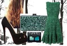 """""""GREEN FOR CHRISTMAS"""" by marcellachristian97 on Polyvore"""