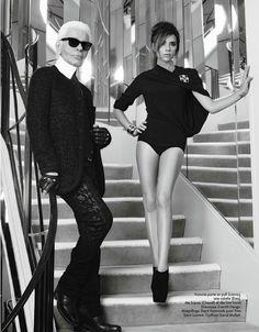 Victoria Beckham by Karl Lagerfeld for Elle France October 2012