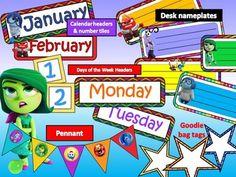 Inside Out Themed Classroom Decor Kit - EDITABLE