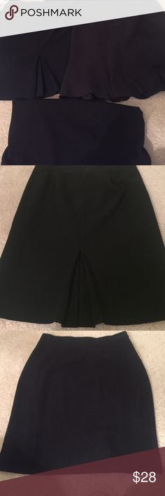 Bundle of 3 Ann Taylor black skirts - all size 0P First skirt is a classic black straight pencil skirt, fully lined with hidden zipper. Second skirt has a ruffle hem with full lining and hidden zipper. Third skirt has a beautiful back pleat vent, fully lined with hidden zipper. Ann Taylor Skirts